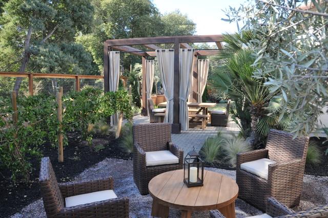 Marin Spanish mediterranean-patio