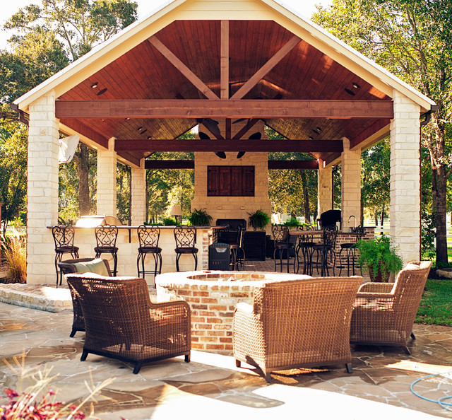 Mcbeth outdoor living traditional patio houston by for Outdoor living space designs