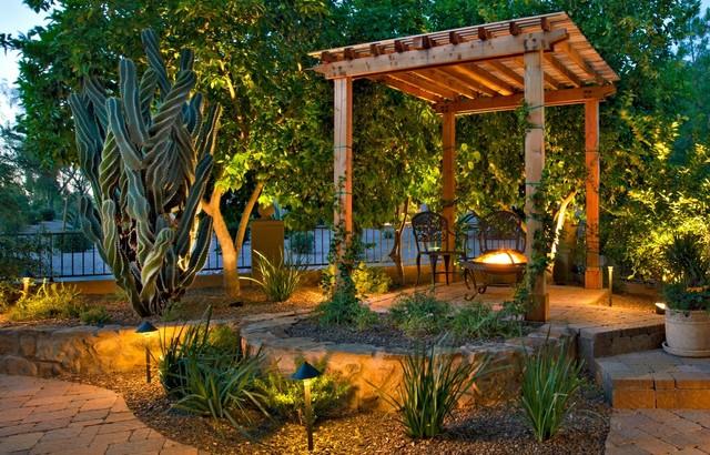 Mediterranean Courtyard - Mediterranean - Patio - phoenix ... on Small Mediterranean Patio Ideas id=89915