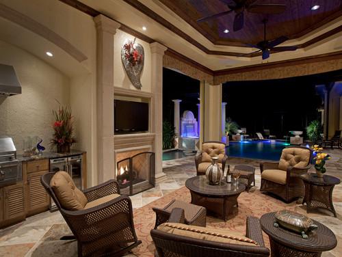 mediterranean-patio 15 Incredible Outdoor Wicker Furniture Designs