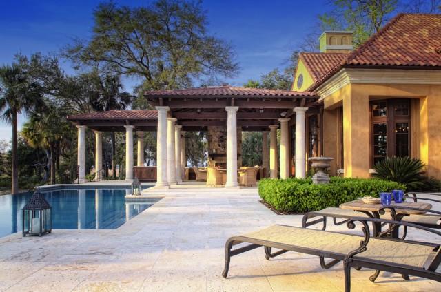 Mediterranean Home in Gated Golf Community mediterranean-patio