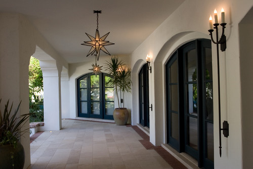 - Moravian Star Pendant Lights Through The Front Door
