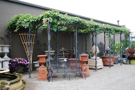 Branch Steel Grape Pergola mediterranean-patio