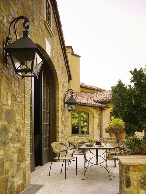 Mediterranean Patio rustic-patio