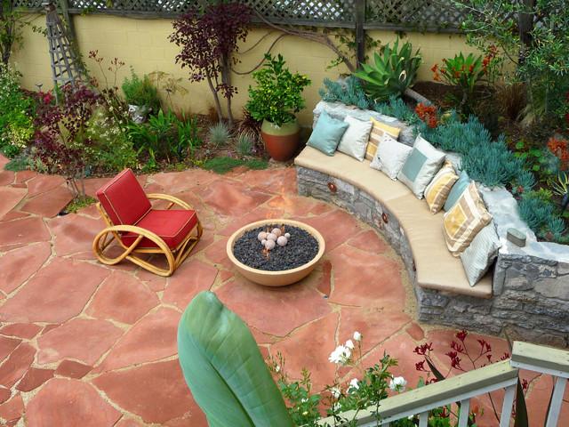 natural stone garden mediterranean patio