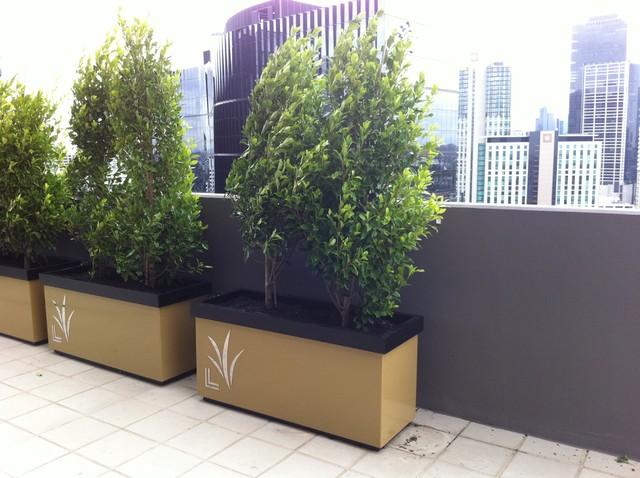 Melbourne Penthouse Art Deco contemporary-patio