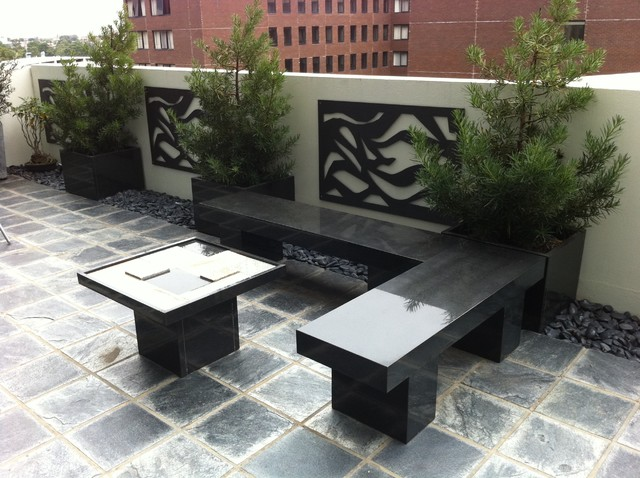 Melbourne penthouse art deco contemporary patio melbourne by landscape and architectural for Deco terras design