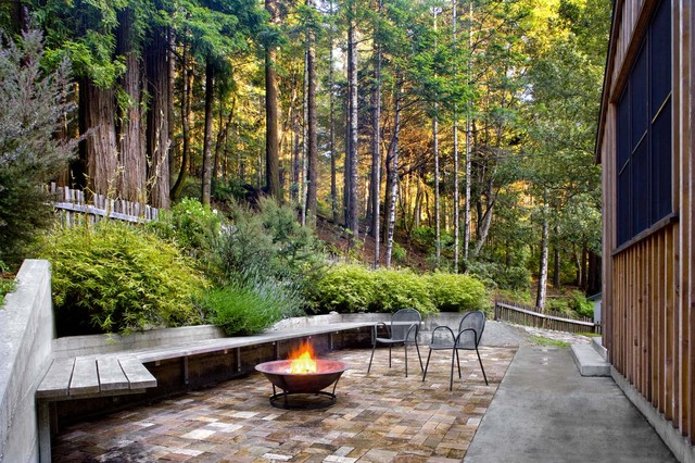 Mendocino County House rustic-patio