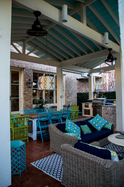Mexican inspired old metairie residence for Metairie architects