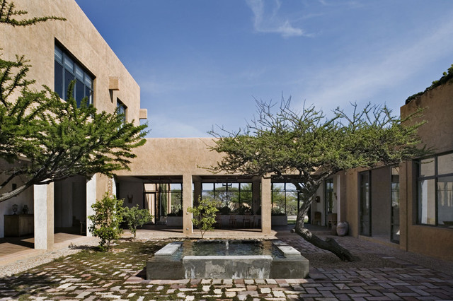 mediterranean exterior by David Howell Design