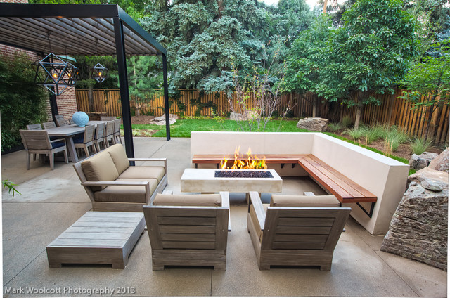 Mid Century Modern Renovation Contemporary Patio
