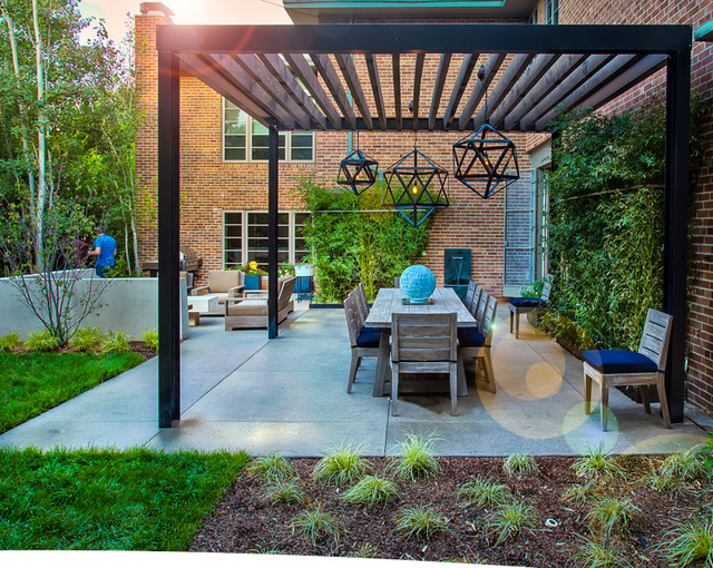 Mid Century Modern Pergola : Mid-Century Modern Renovation - Contemporary - Patio - denver - by ...