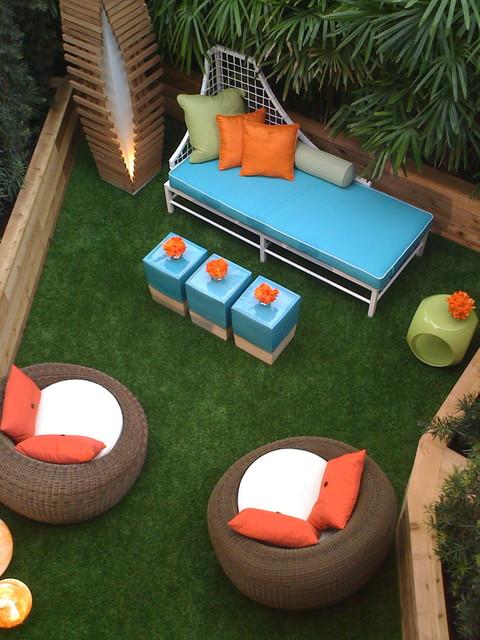 Mid century patio contemporary-patio
