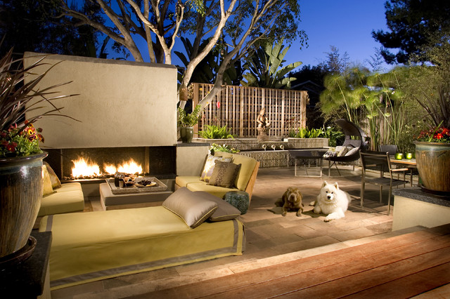 Mid Century Zen - Contemporary - Patio - san diego - by Lori Gentile Interior Design