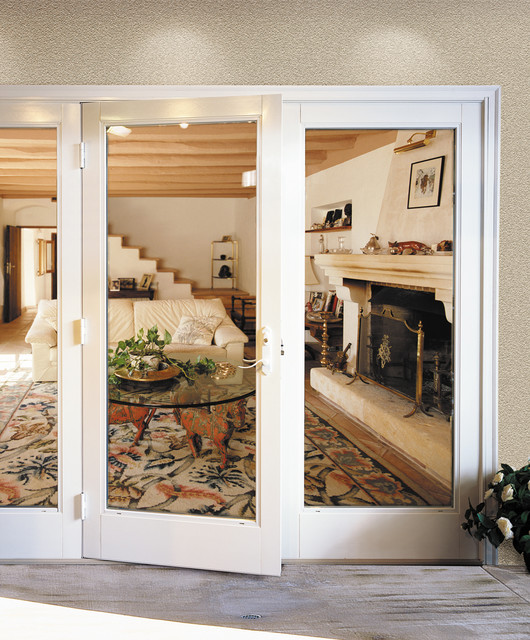 Lovely Milgard Out Swing French Doors Traditional Patio