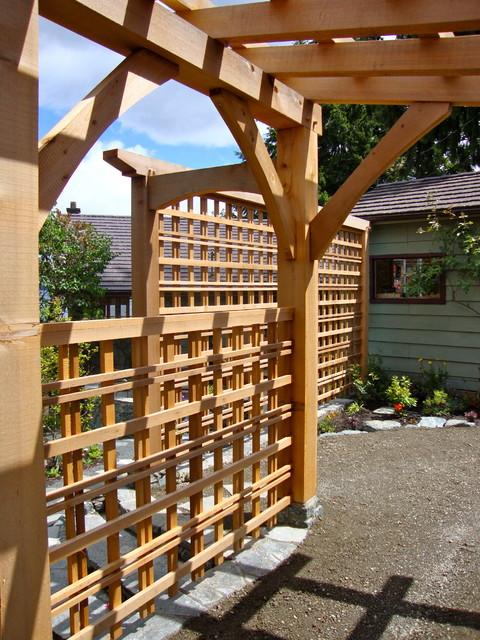 Mill Bay courtyard modern-patio