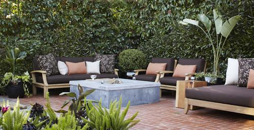 contemporary patio by Urrutia Design