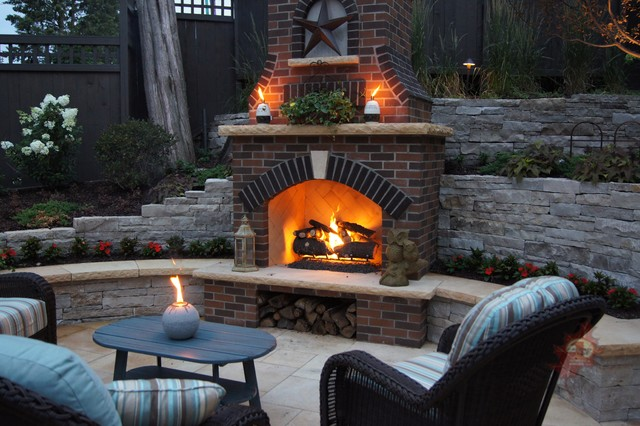 Minneapolis Outdoor Fireplace Amp Pool Traditional Patio