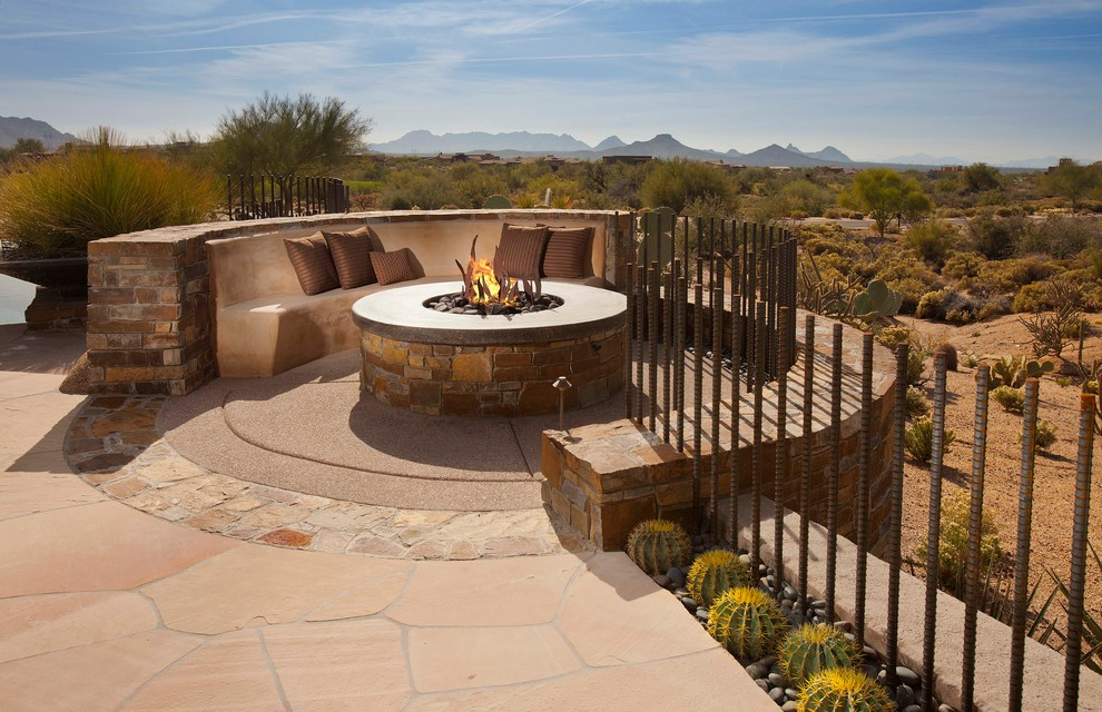 Patio - mediterranean patio idea in Phoenix