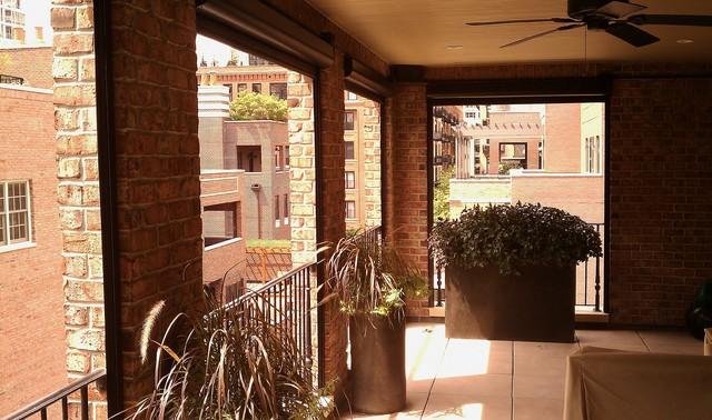 Mirage Motorized Screens-Outdoor Terrace modern-patio