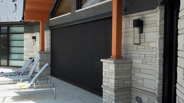 Mirage retractable screens nanawall system modern for Retractable screen porch systems