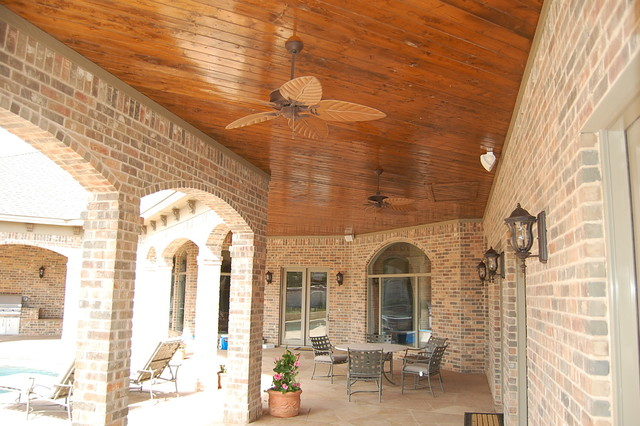 Patio - large traditional patio idea in Austin