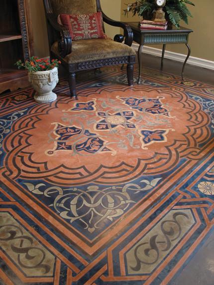 Great Modello ® Designs Stenciled Floors Midcentury Patio