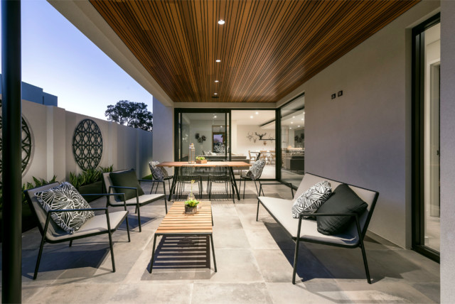 Modern Alfresco Area With Feature Timber Ceiling
