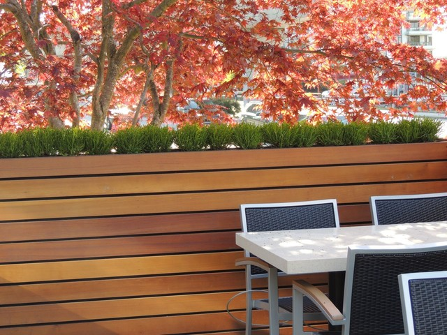 Remarkable Modern Bench Planter Modern Patio Vancouver By Onthecornerstone Fun Painted Chair Ideas Images Onthecornerstoneorg