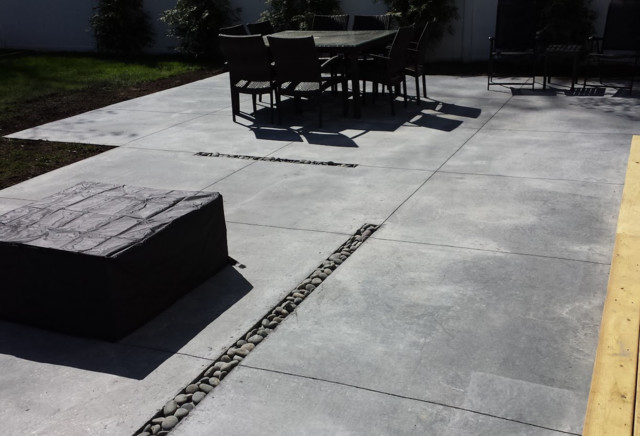 Charming Modern Concrete Patio Long Island Modern Patio