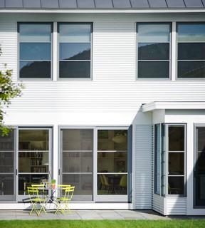 Contemporary Vermont Farm House Farmhouse Patio Burlington By Truexcullins Architecture