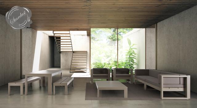 Modern Interior Courtyard Patio And Pool Furniture Design