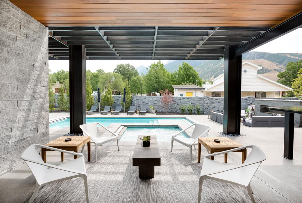 Modern Luxury Contemporary Patio, Patio Furniture Salt Lake City