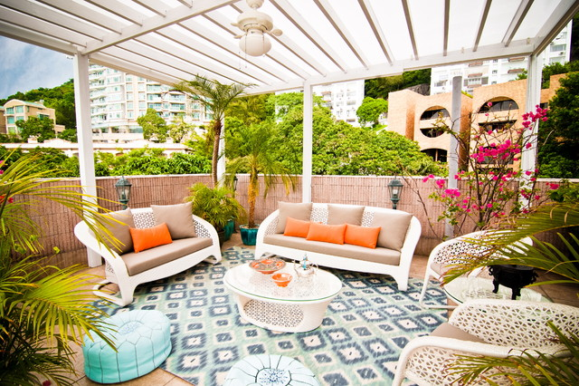 Tropical Patio by Alexandra Lauren Designs