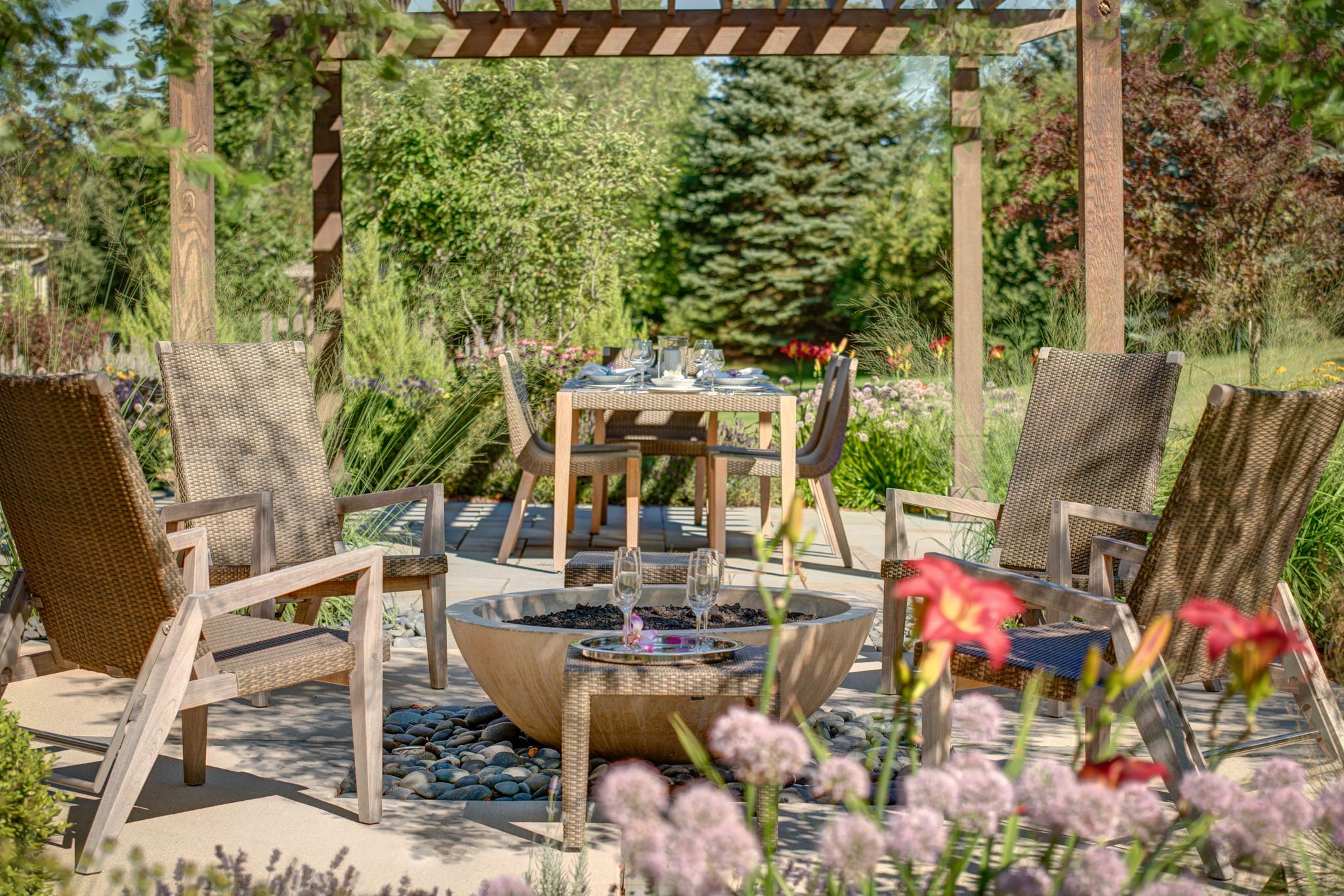 Modern New Home Backyard - Mequon