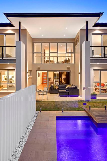 Modern pool design contemporary patio other metro