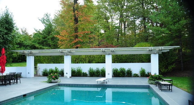 Modern Poolside Pergola - Modern - Patio - Other - by Structural ...