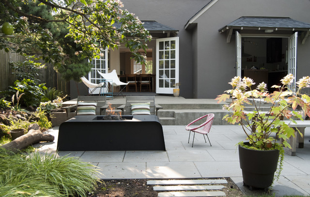 Modern Portland Landscape Contemporary Patio