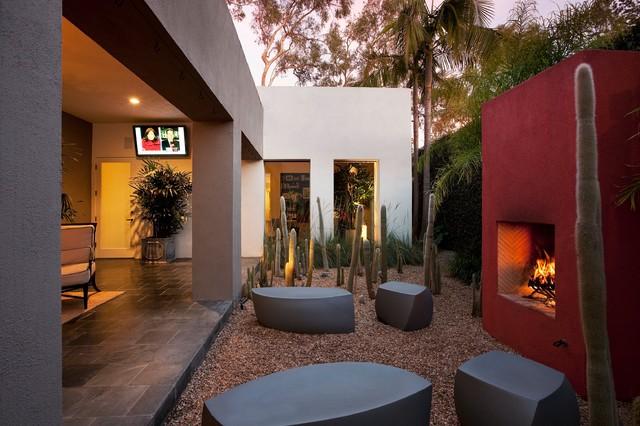 Modern Renovation, Montecito eclectic-patio
