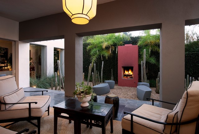 Modern Renovation, Montecito eclectic patio