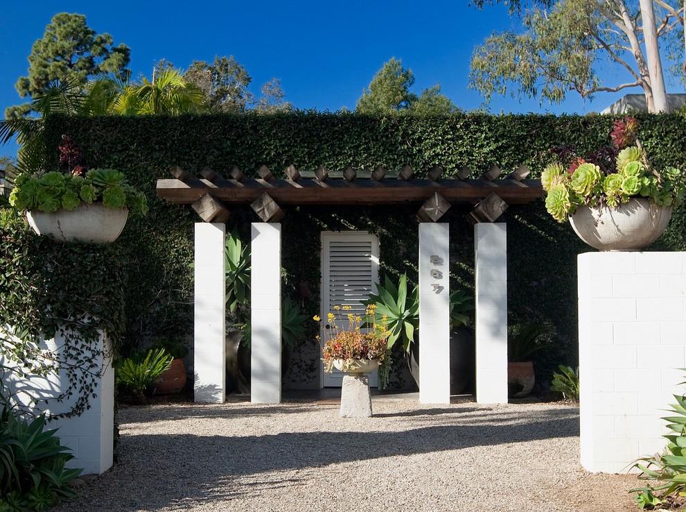 Inspiration for a contemporary patio remodel in Santa Barbara