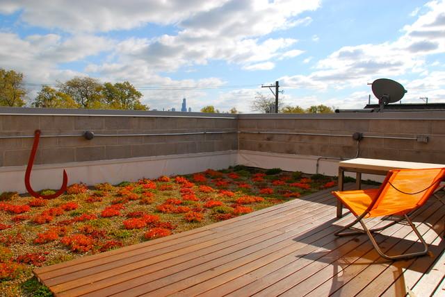 Modern Rooftop TerraceGarden Footbridge Door 13