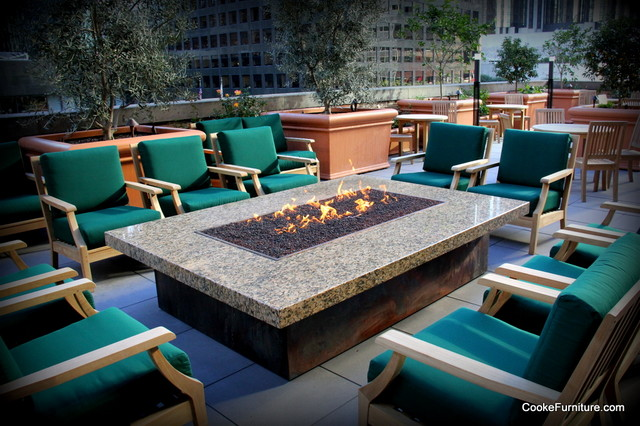 Montecito Fire Pit Table Contemporary Patio Los