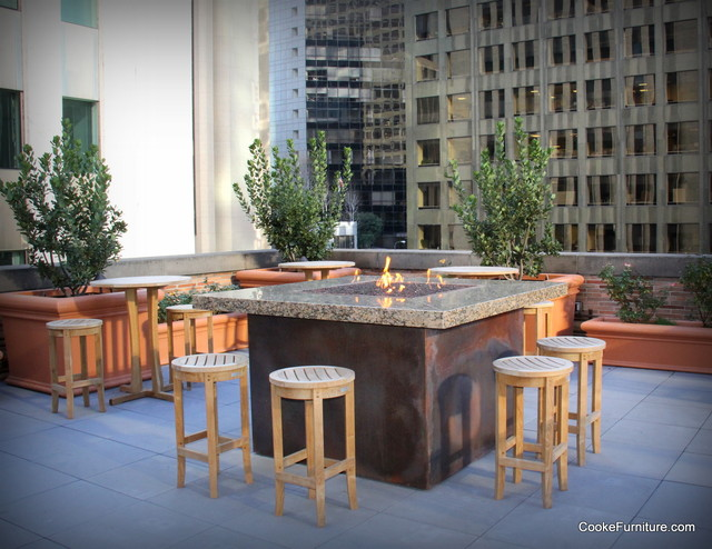 Montecito Fire Pit Table Traditional Patio Los