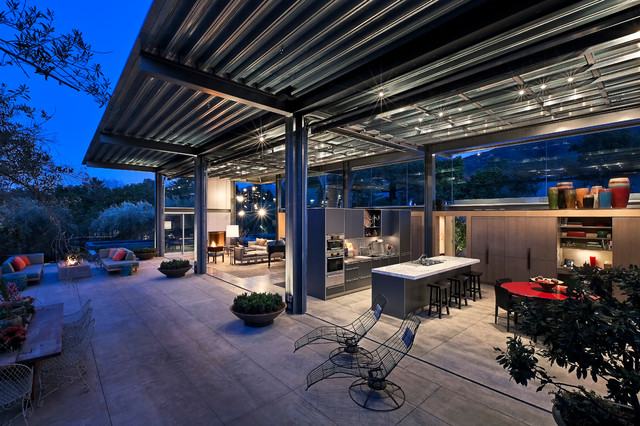 modern patio by Caputo Construction