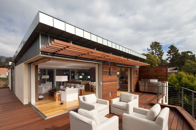 Bon Inspiration For A Contemporary Patio Remodel In Santa Barbara With A Pergola