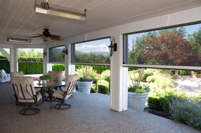 Beautiful Motorized Retractable Screens For Patios U0026 Porches   Phantom Executive  Screens Traditional Patio