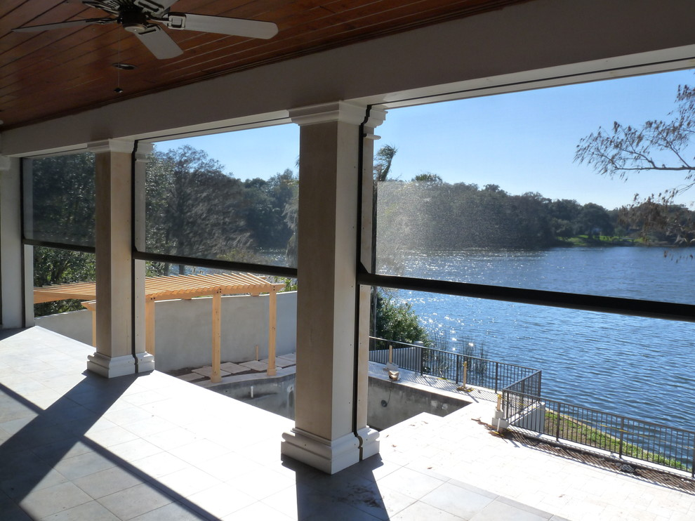 Motorized Screens Traditional Patio Orlando By New Horizons Go Retractable