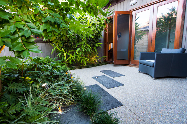 MOUNT HAWTHORN COURTYARDS Contemporary Patio Perth By Cultivart Lands