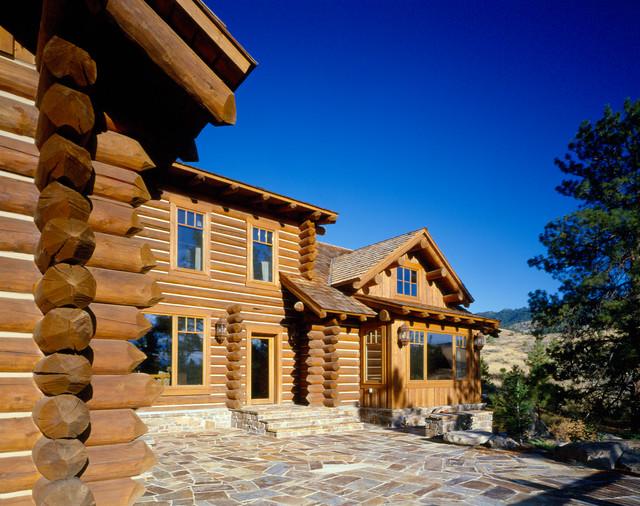 Mountain getaway rocky mountain log homes for Rocky mountain home builders